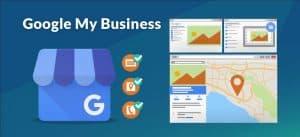 Imagem a representar a diversas formas que Google my business aparece no motor de pesquisa Google