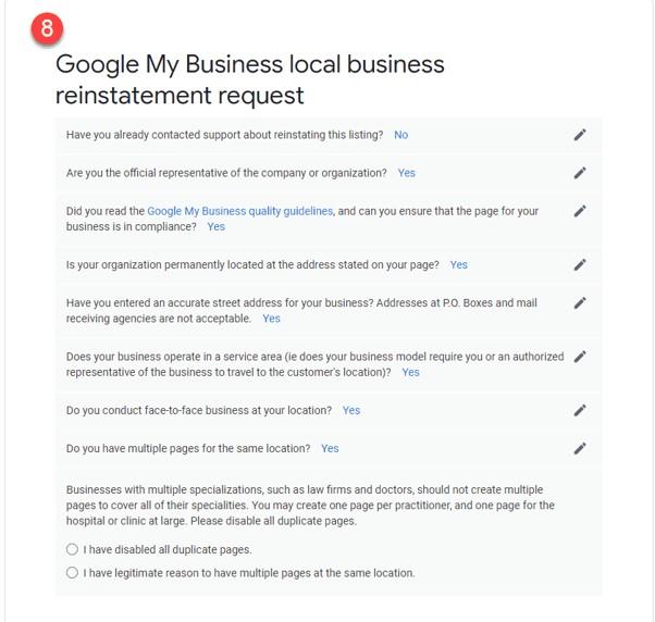 Como restabelecer o teu perfil após uma suspensão do Google My Business 11
