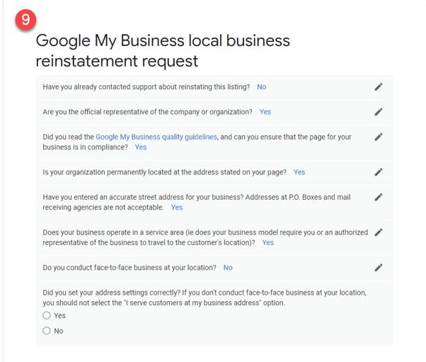 Como restabelecer o teu perfil após uma suspensão do Google My Business 12