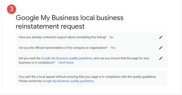 Como restabelecer o teu perfil após uma suspensão do Google My Business 6