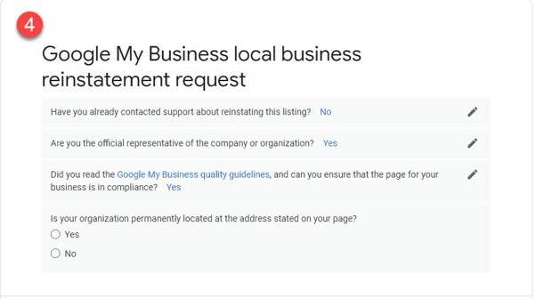 Como restabelecer o teu perfil após uma suspensão do Google My Business 7