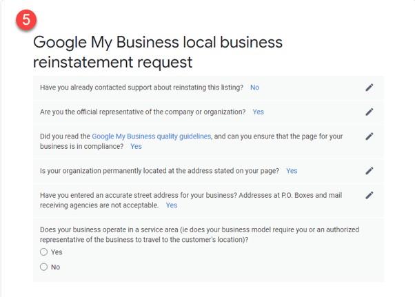 Como restabelecer o teu perfil após uma suspensão do Google My Business 8