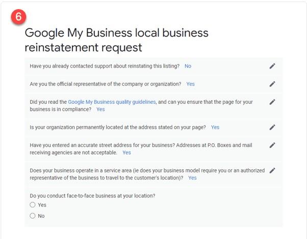 Como restabelecer o teu perfil após uma suspensão do Google My Business 9