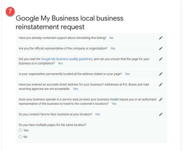 Como restabelecer o teu perfil após uma suspensão do Google My Business 10